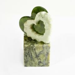Статуэтка сердечки офиокальцит, нефрит Россия 5х8,5 см