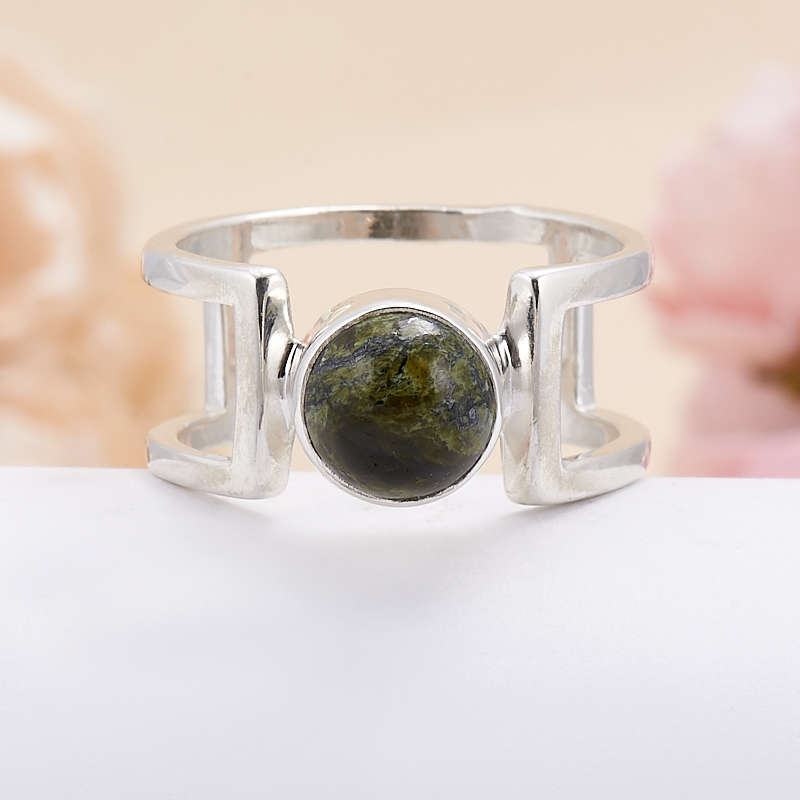 Кольцо змеевик  (серебро 925 пр.) размер 18,5 кольцо авантюрин зеленый серебро 925 пр размер 18