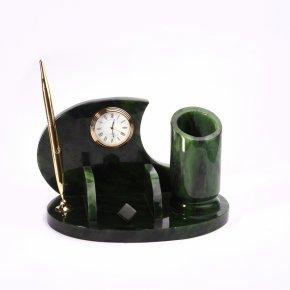 Письменный набор нефрит зеленый Россия 23х14х14 см