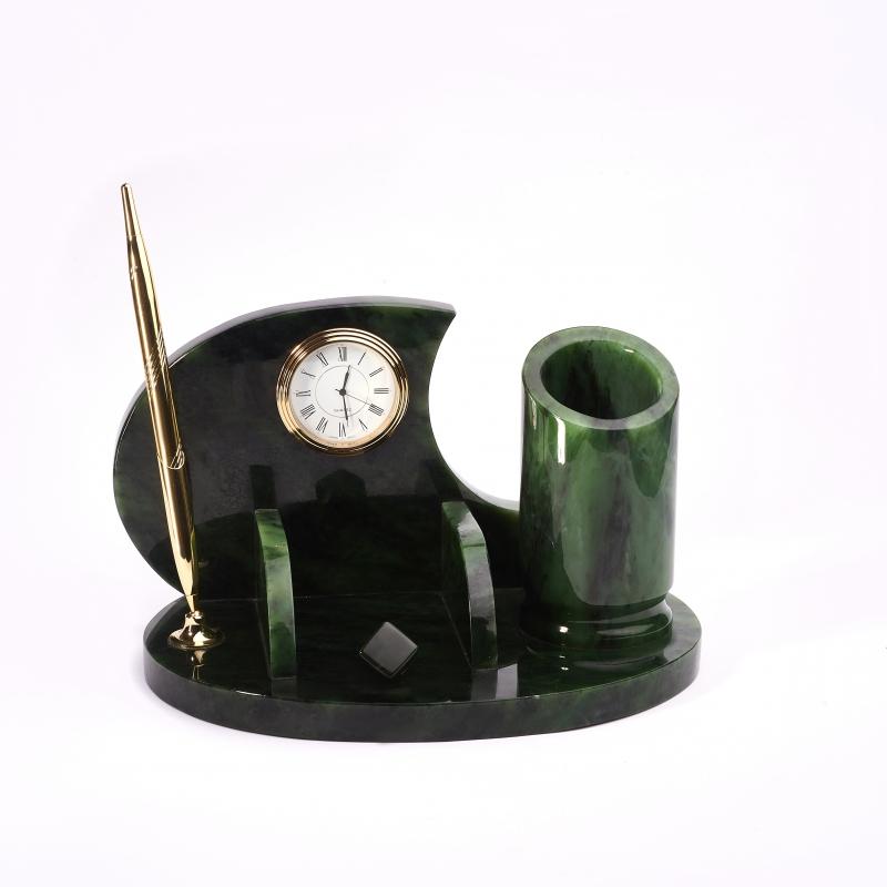 цена на Письменный набор нефрит зеленый 23х14х14 см