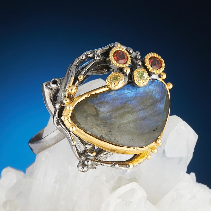 Кольцо лабрадор  (серебро 925 пр., позолота) размер 17,5 кольцо авантюрин зеленый серебро 925 пр размер 18