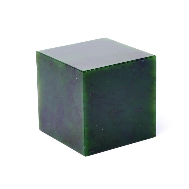 Куб нефрит зеленый 5х5 см (1 шт) шкатулка нефрит зеленый мельхиор 9 5х5 5х4 см