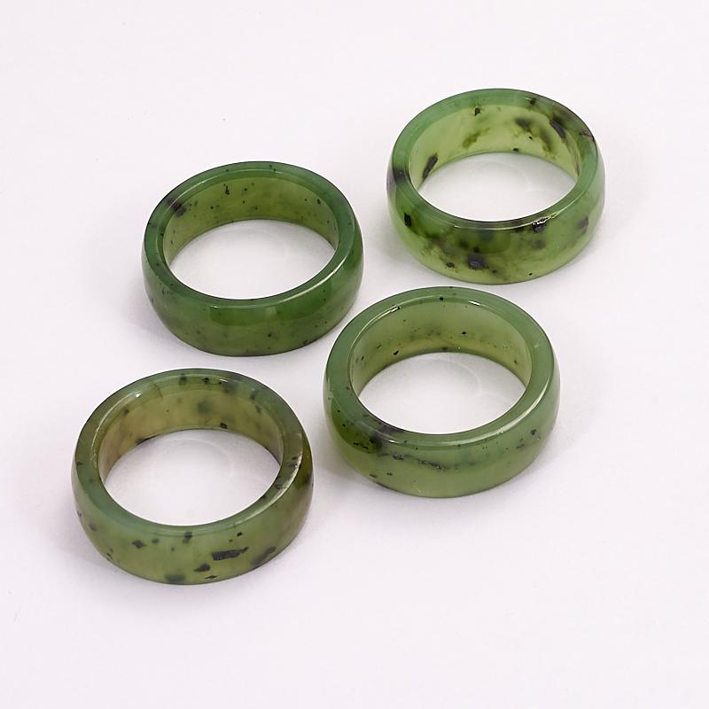 Кольцо нефрит зеленый (цельное) размер 17 цена и фото
