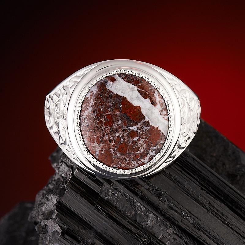 Кольцо яшма брекчиевая  (серебро 925 пр.) размер 22 кольцо виктория яшма