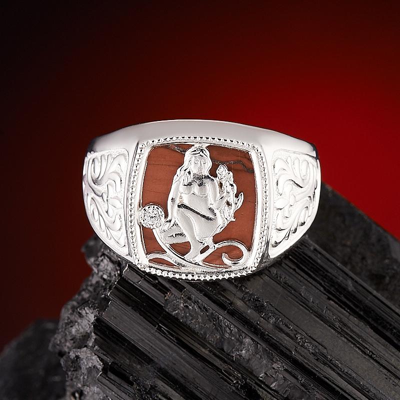 Кольцо яшма брекчиевая  огранка (серебро 925 пр.) размер 20