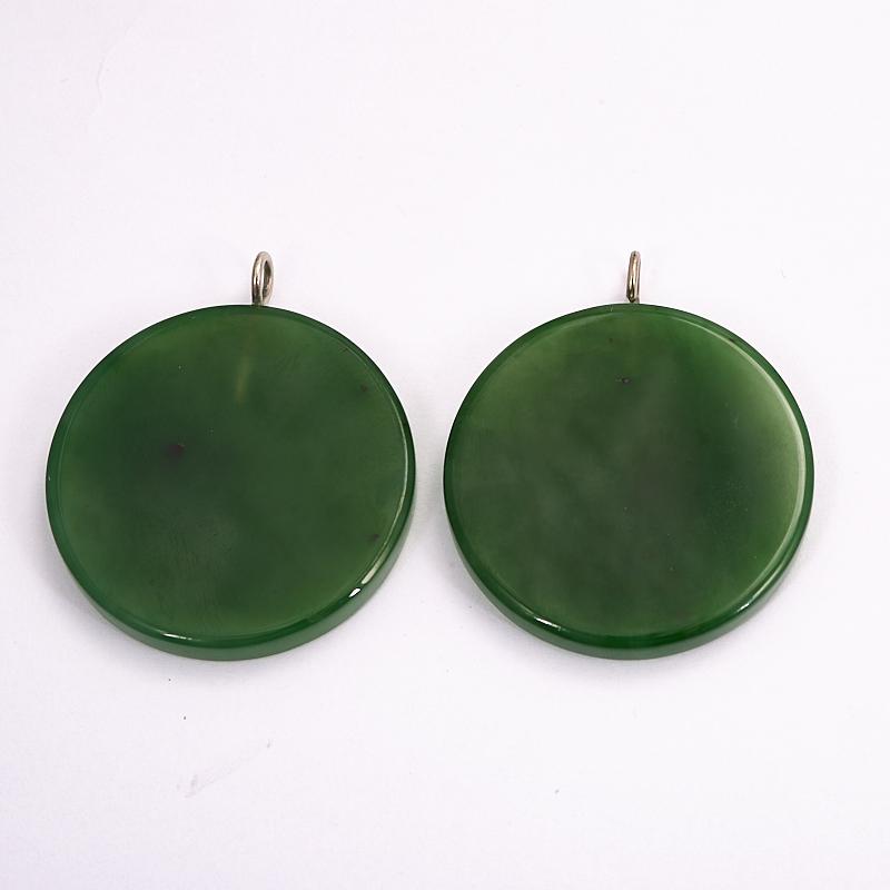 Кулон Хотей нефрит зеленый Россия круг 4 см