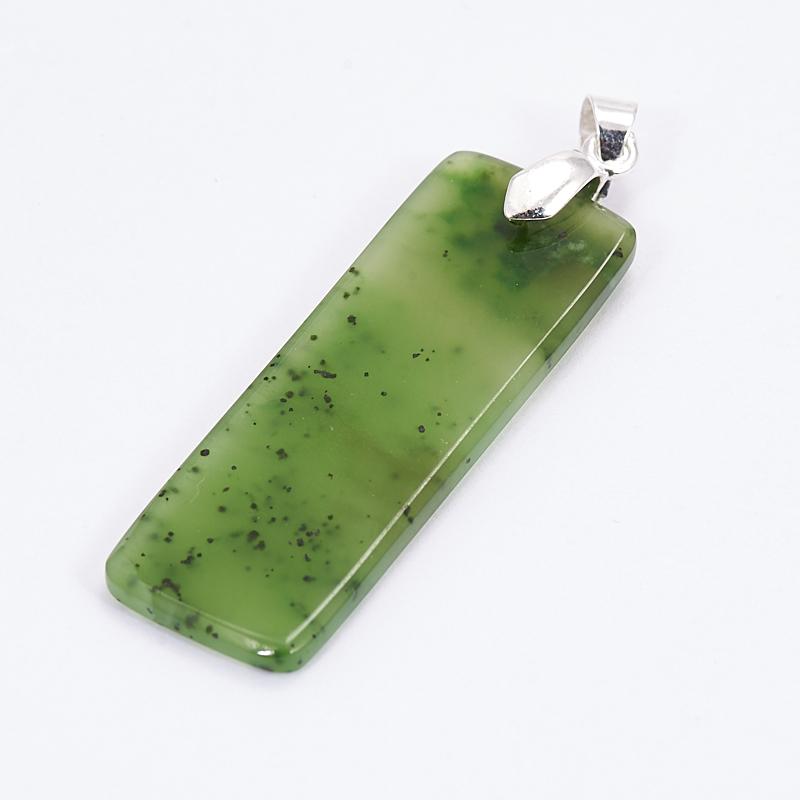 Кулон нефрит зеленый  5 см