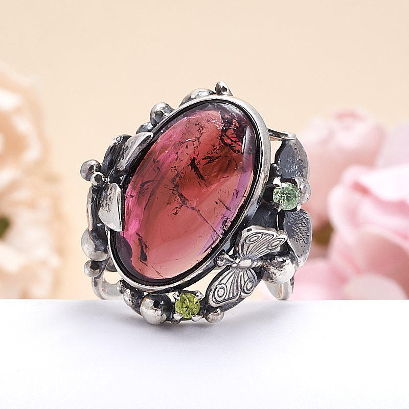 Кольцо турмалин розовый (рубеллит)  (серебро 925 пр.) размер 18,5 кольцо авантюрин зеленый серебро 925 пр размер 18