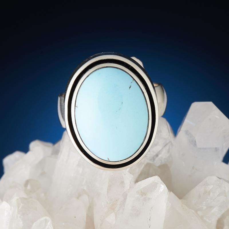 Кольцо бирюза  (серебро 925 пр.) размер 17 кольцо хризопраз серебро 925 пр размер 17