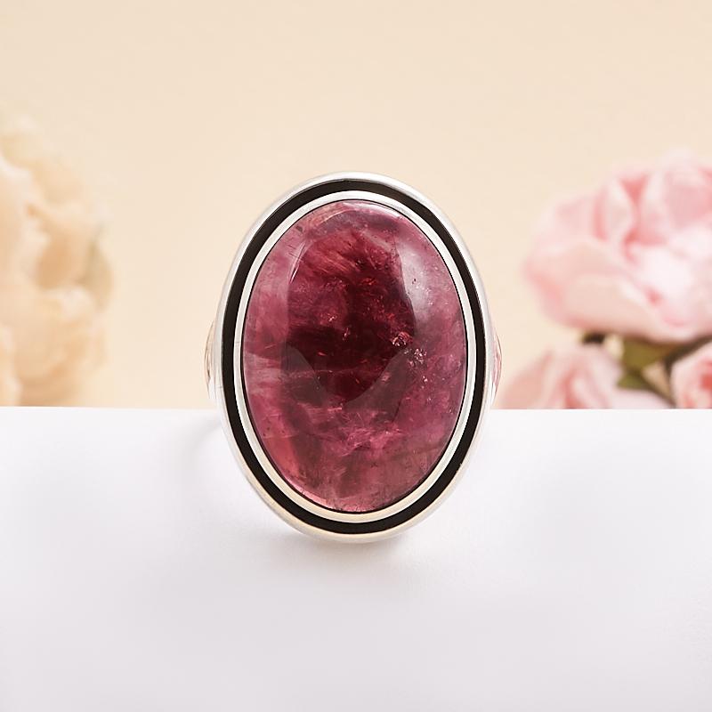 Кольцо турмалин розовый (рубеллит)  (серебро 925 пр.) размер 18