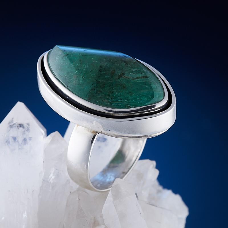 Кольцо берилл Россия (серебро 925 пр.) размер 17,5