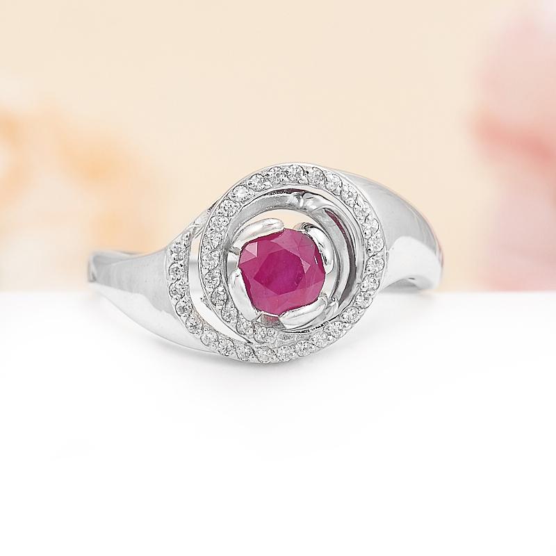 Кольцо рубин  огранка (серебро 925 пр.) размер 18 кольцо авантюрин зеленый серебро 925 пр размер 18