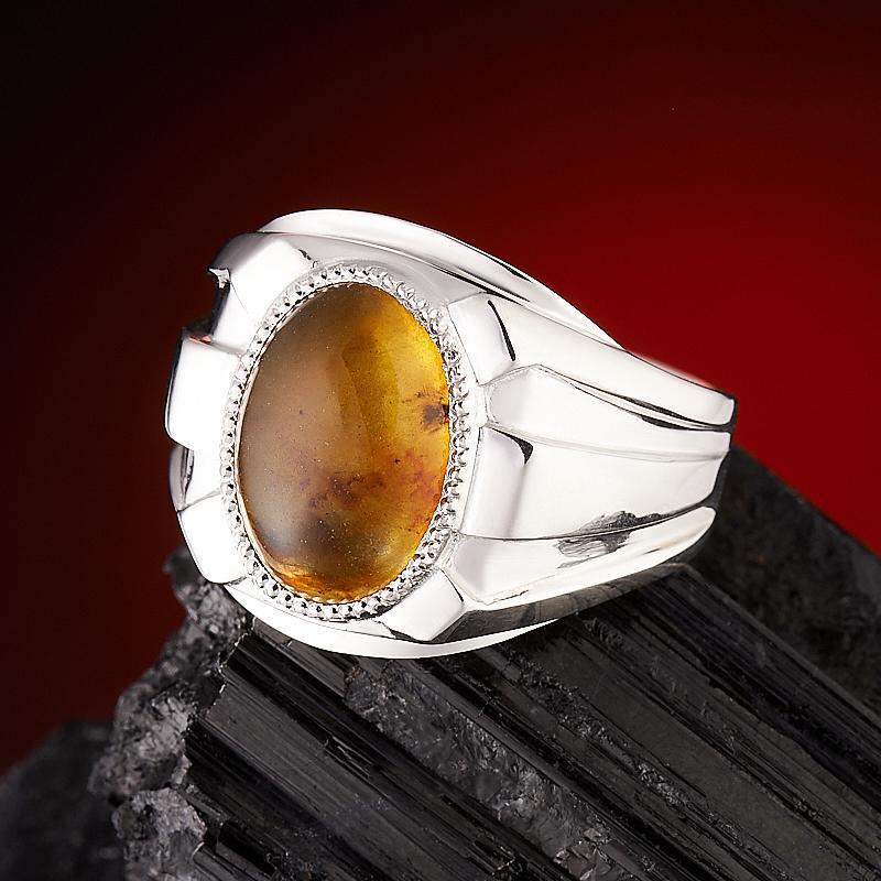 Кольцо янтарь  (серебро 925 пр.) размер 20,5 кольцо авантюрин зеленый серебро 925 пр размер 18