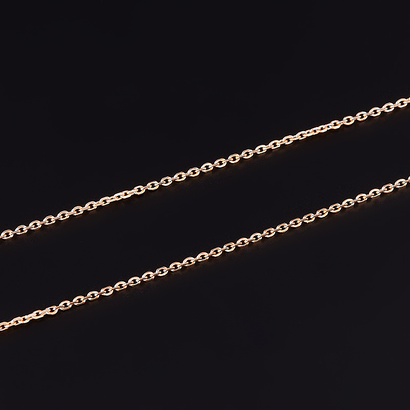 Цепь полновесная якорь 40 см (серебро 925 пр., позолота) фото