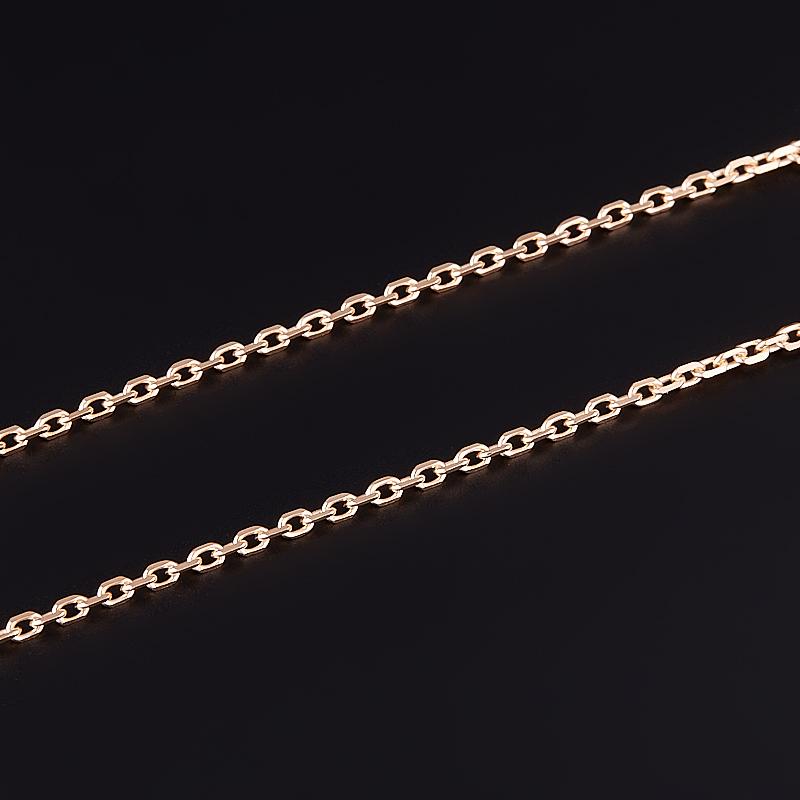 Цепь полновесная якорь 55 см (серебро 925 пр. позолота) фото