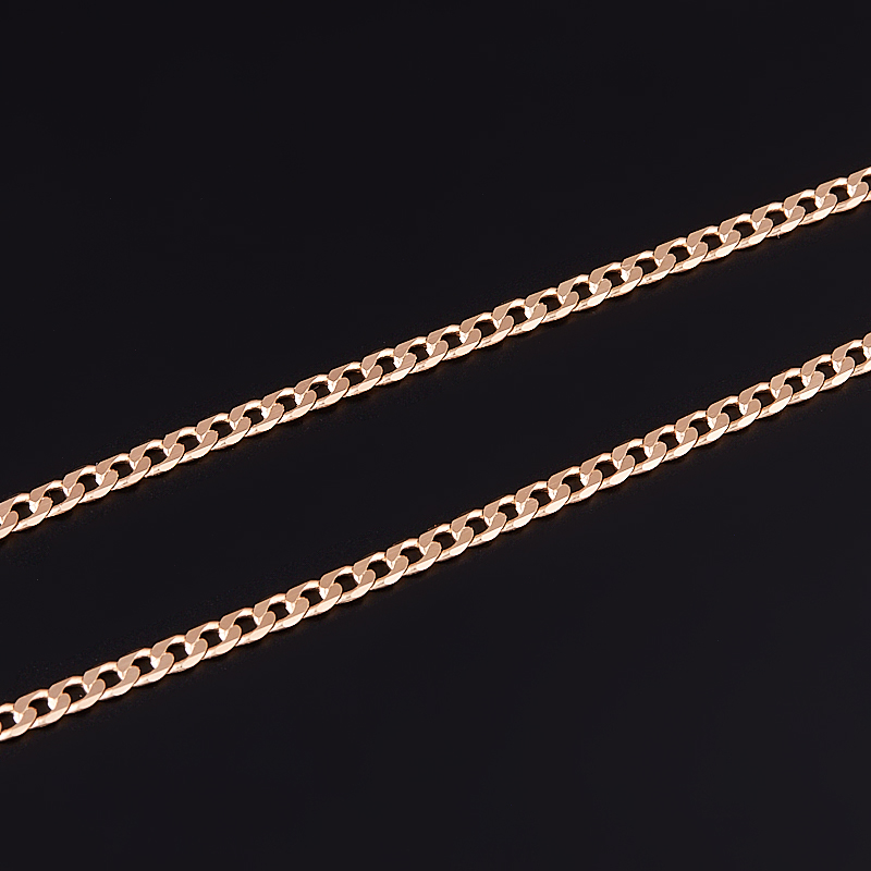 Цепь полновесная панцирь 40 см (серебро 925 пр., позолота)