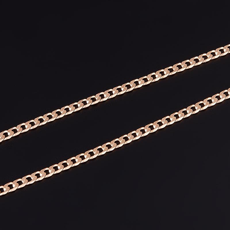 Цепь полновесная панцирь 55 см (серебро 925 пр., позолота)