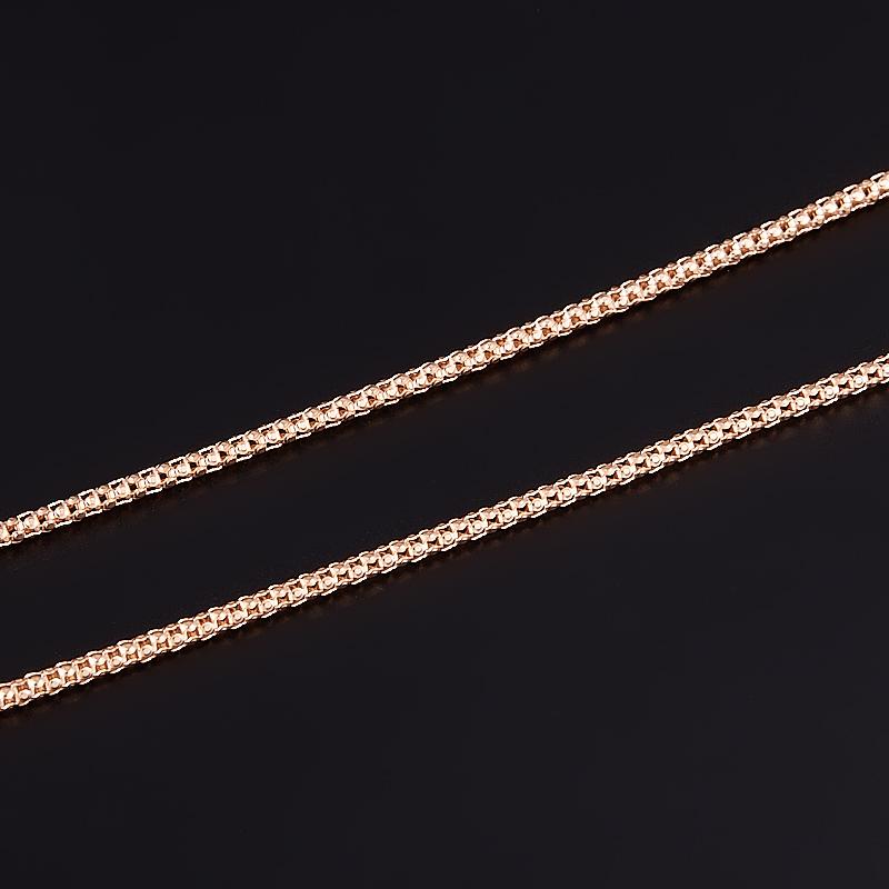 Цепь пустотелая 40 см (серебро 925 пр., позолота) женская цепь красцветмет золотая цепь ndнц 12 084 d 0 40 40