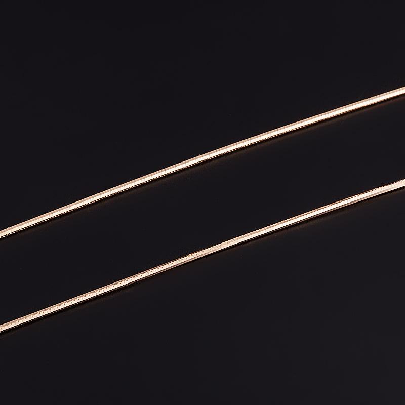 Цепь полновесная 40 см (серебро 925 пр., позолота) женская цепь красцветмет золотая цепь ndнц 12 084 d 0 40 40