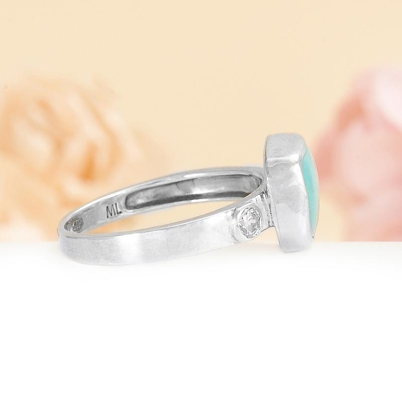 Кольцо бирюза США (серебро)  размер 16,5