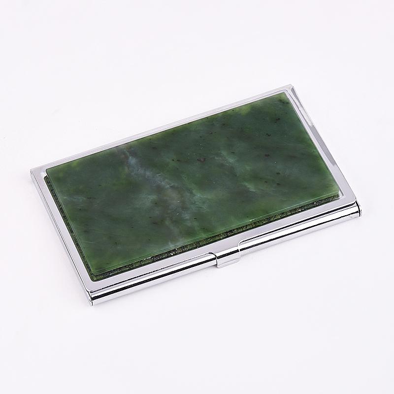 Визитница нефрит зеленый 5,5х9,5 см браслет классика 8 нефрит револю