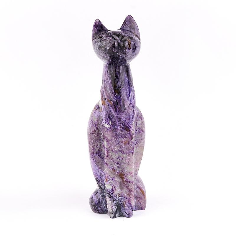 Котик чароит 14 см камни полудрагоценные чароит изделия