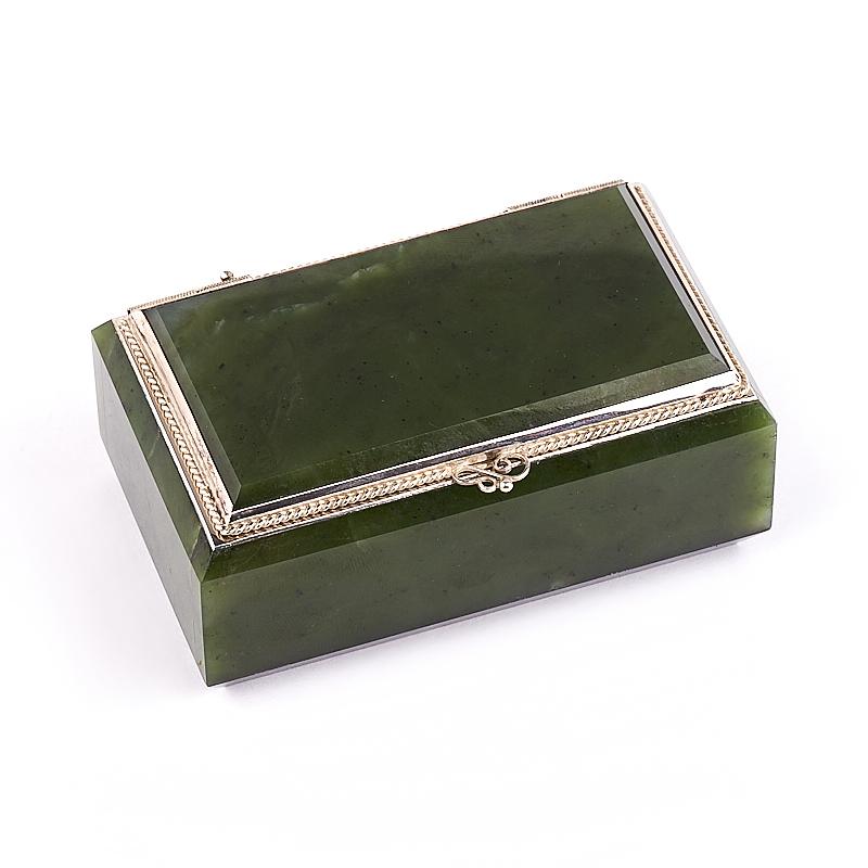 Шкатулка нефрит зеленый 9х5х4 см usel 34 шкатулка 34