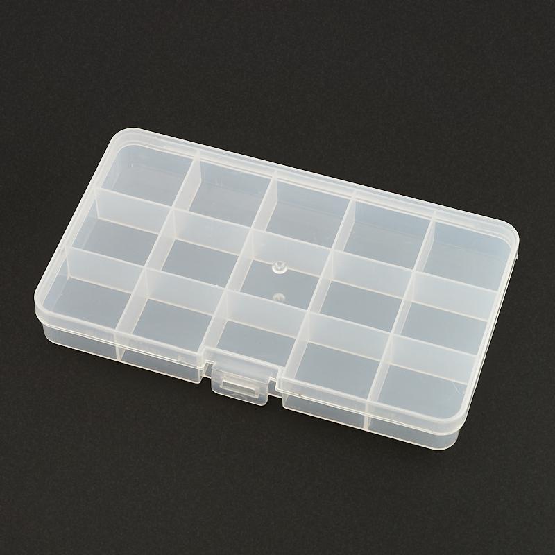 Коробка для коллекции камней (15 ячеек) пластик