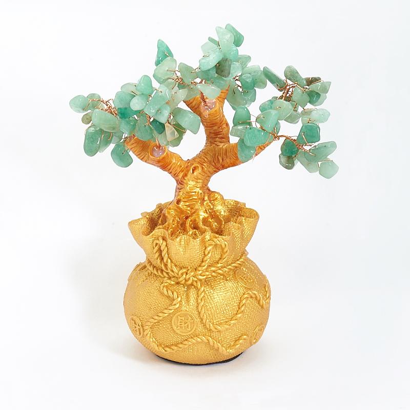 Дерево счастья авантюрин зеленый Индия 18 см