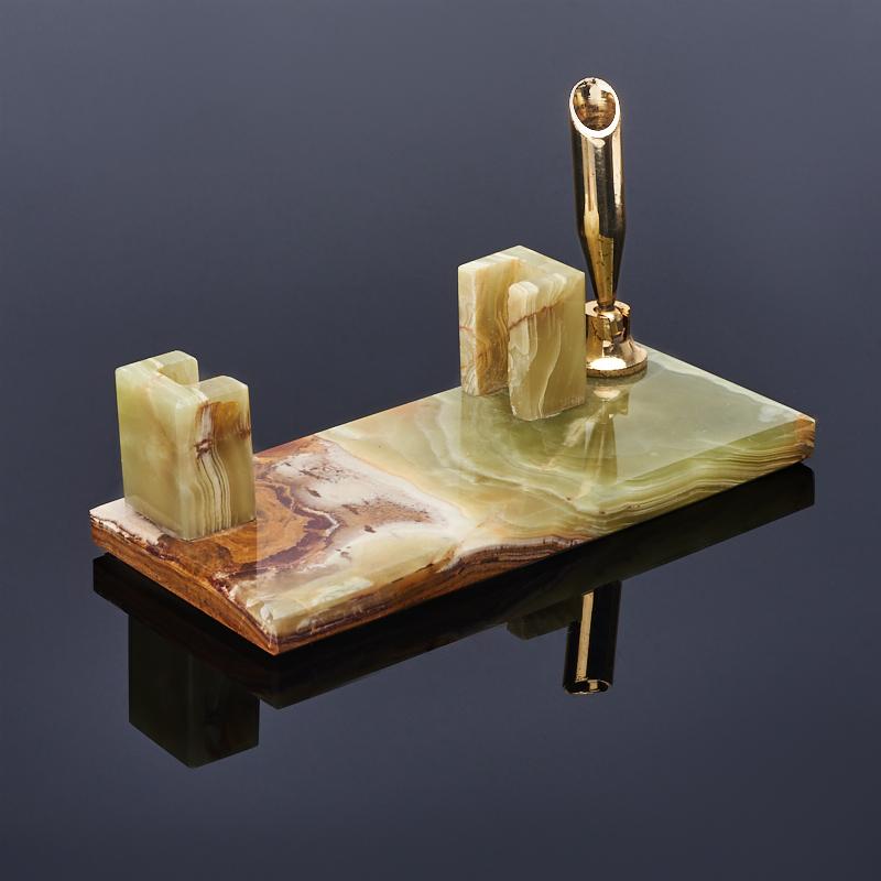 Визитница оникс мраморный 14х6х7 см браслет оникс мраморный коричневый шамбала 15 см
