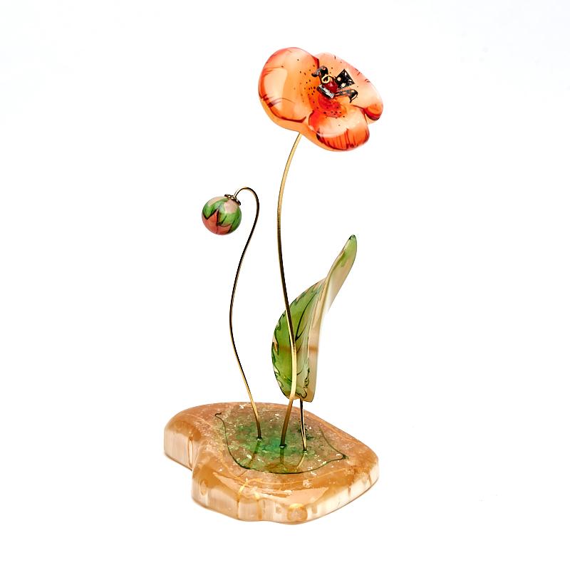 Цветок на подставке селенит 17-19 см