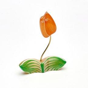 Цветок на подставке селенит Россия 11 см
