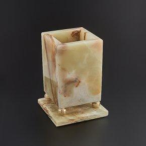 Карандашница оникс мраморный Пакистан 10,5х7,5 см