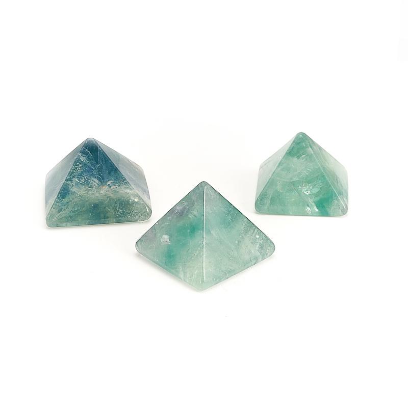 Пирамида флюорит зеленый 3,5-4 см пирамида сердолик 4 см