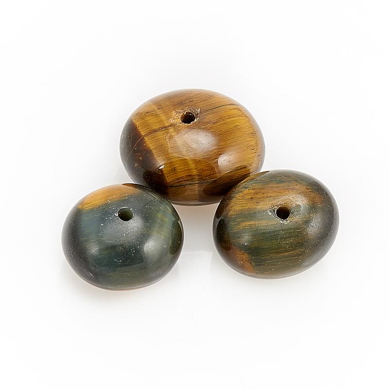 Бусина тигрово-соколиный глаз  галтовка 11 мм (1 шт) бусина авантюрин зеленый сердечко 14 14 мм 1 шт