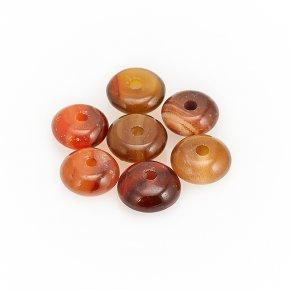 Бусина агат красный Ботсвана сплюснутый шар 6-6,5 мм (1 шт)