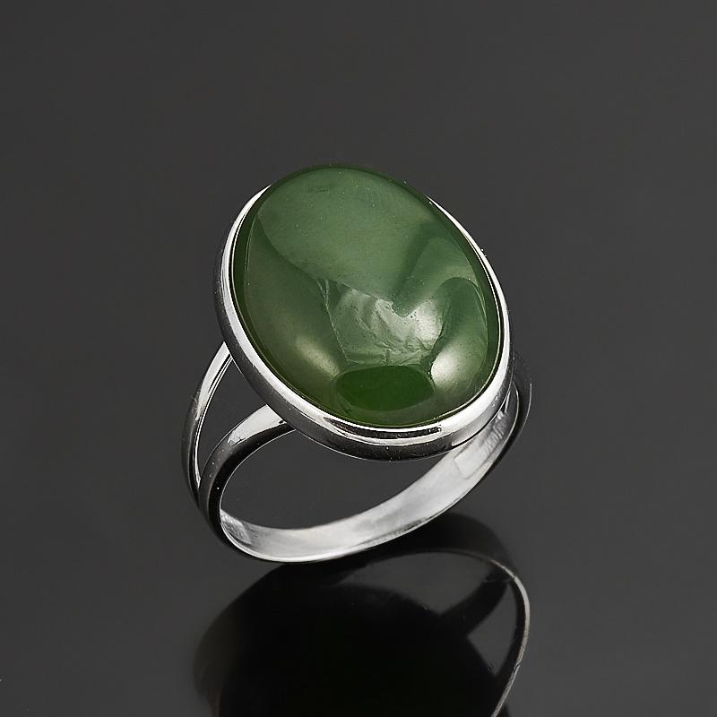 Кольцо нефрит зеленый  (серебро 925 пр.) размер 17 кольцо авантюрин зеленый серебро 925 пр размер 22