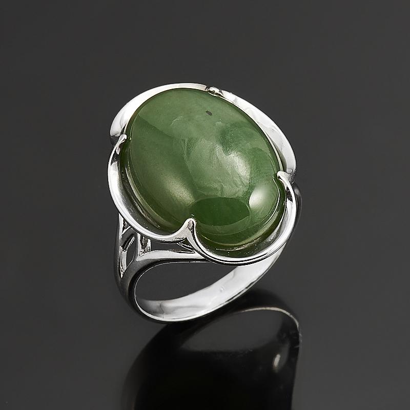 Кольцо нефрит зеленый  (серебро 925 пр.) размер 18 кольцо авантюрин зеленый серебро 925 пр размер 22