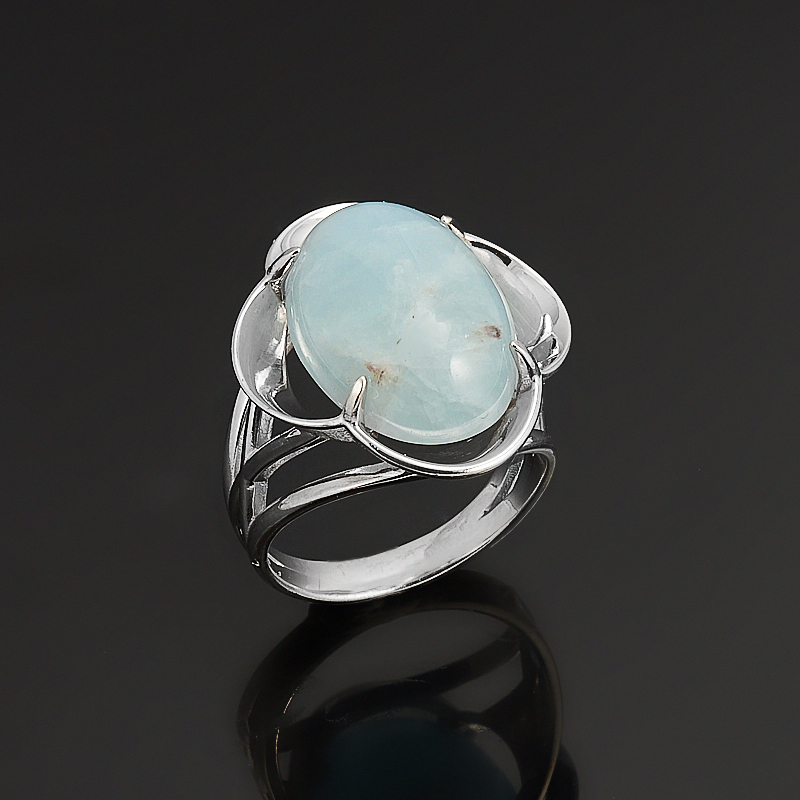 Кольцо аквамарин  (серебро 925 пр.) размер 17 кольцо хризопраз серебро 925 пр размер 17