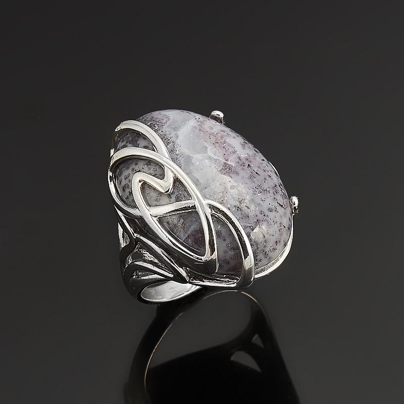 Кольцо агат моховой  (серебро 925 пр.) размер 18,5 серьги агат серый серебро 925 пр
