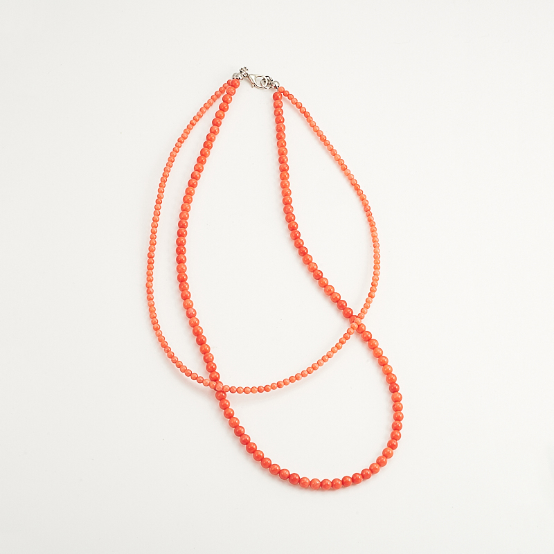Бусы коралл оранжевый  41 см
