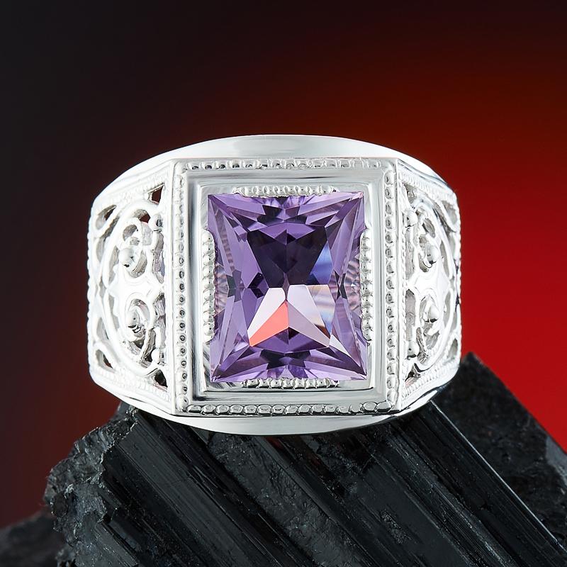 Кольцо аметист  огранка (серебро 925 пр.) размер 20 кольцо лазурит серебро 925 пр размер 20