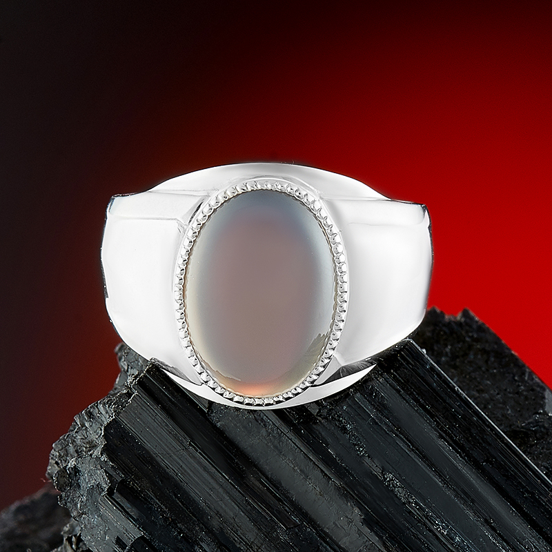 Кольцо агат серый (серебро 925 пр.) размер 22 кольцо агат черный серебро 925 пр размер 22