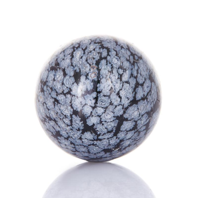 Шар обсидиан снежный 3,5 см
