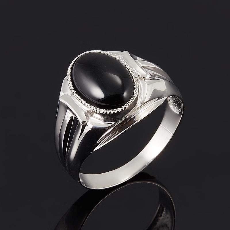 Кольцо агат черный  (серебро 925 пр.) размер 22 серьги агат серый серебро 925 пр
