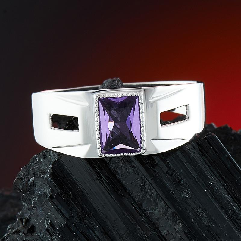 Кольцо аметист  огранка (серебро 925 пр.) размер 19,5   потертос на сереб кольцо аметист серебро 925 пр размер 19 5