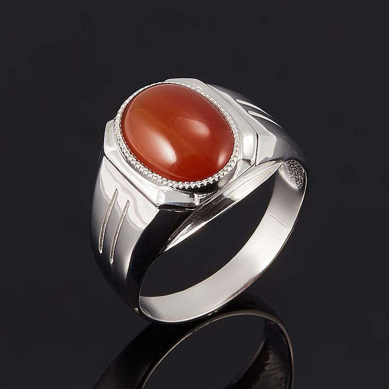 Кольцо сердолик  (серебро 925 пр.) размер 21