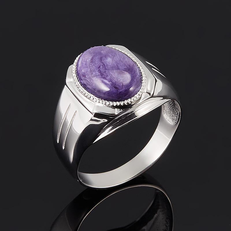 Кольцо чароит  (серебро 925 пр.) размер 20 от Mineralmarket