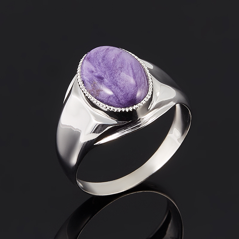 Кольцо чароит  (серебро 925 пр.) размер 21 от Mineralmarket