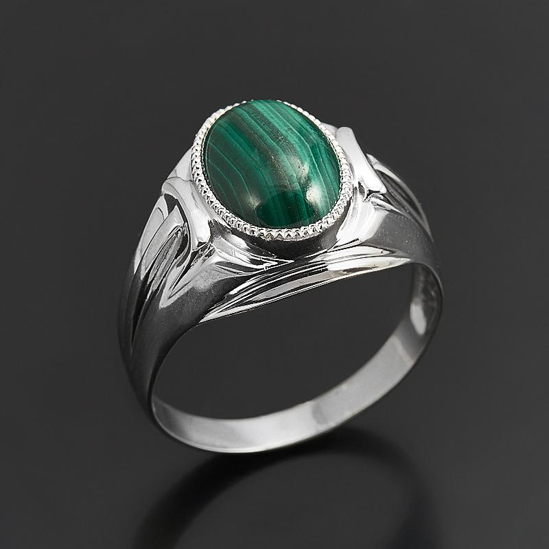Кольцо малахит  (серебро 925 пр.) размер 22 кольцо кахолонг серебро 925 пр размер 22